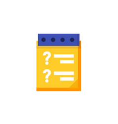 Inquiry icon in flat style vector