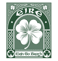 Irish celtic design celtic-style clover and vector