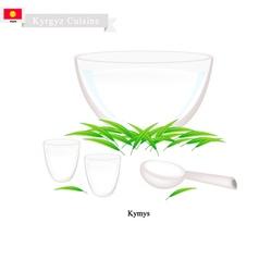 Kymyz or Kyrgyz Fermented Mare Milk vector