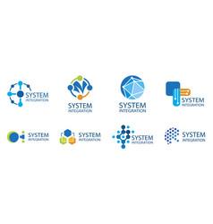 Logo a system integration company vector