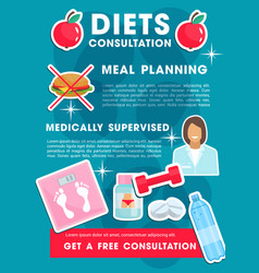 Medical poster for health diet vector