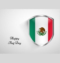 Mexico flag day background vector