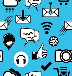 mobilni social media4 resize vector image