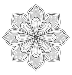 Monochrome beautiful decorative ornate mandala vector