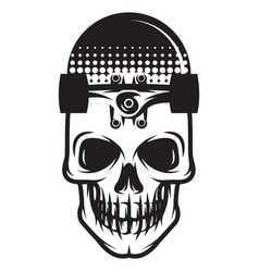monochrome with united skate vector image