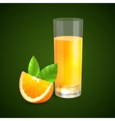Orange juice background vector