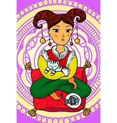 Oriental girl vector