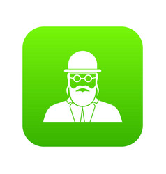 Orthodox jew icon digital green vector