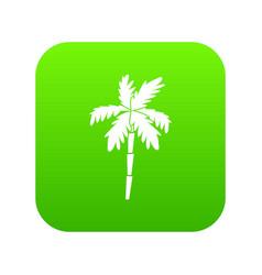 palm tree icon digital green vector image