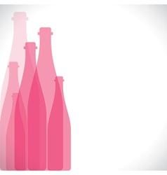 pink bottle background vector image
