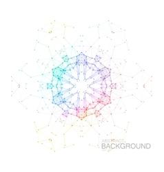 Plexus iridescent geometric wreath vector