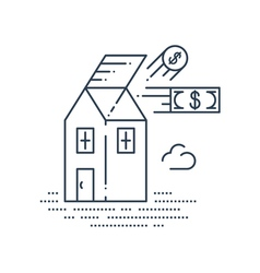 Real estate investment icon vector