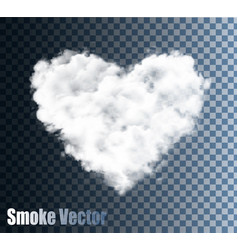 Realistic transparent cloud heart vector
