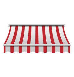 red and white awning mockup realistic style vector image
