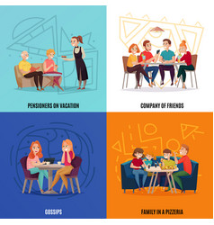 Restaurant pub visitors concept vector