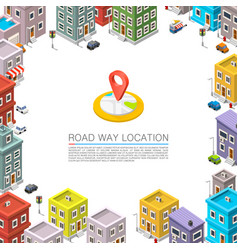 road in the cityscape isometric vector image