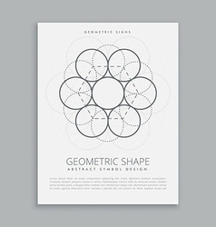sacred geometry circles vector image vector image