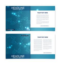 Scientific templates square brochure magazine vector