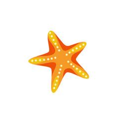 sea or ocean starfish sign or icon cartoon vector image