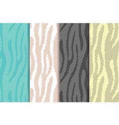 Seamless patterns set with zebratiger stripes vector