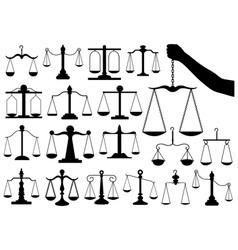 Set of different scales vector image