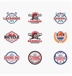 sports logo badges 8 vector image