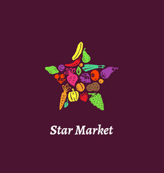 Star market label vector