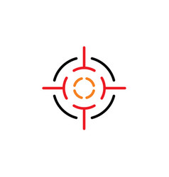 target point icon logo sniper element vector image