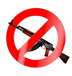 the sign of the ban there is no war vector image