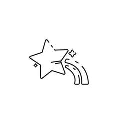 thin line star icon vector image