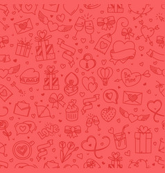 valintaines day red seamless background vector image
