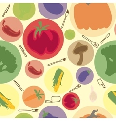 vegetables seamless pattern vector image