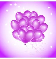 violet heat balloons vector image