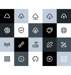 Wireless network icons Flat vector image
