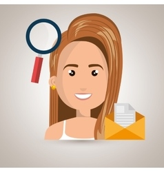 woman message document icon vector image