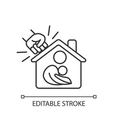 Women shelter linear icon vector