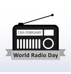 World radio day 13 february to celebrate radio as vector