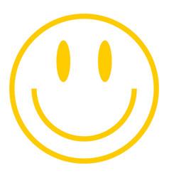 Yellow smiley icon smiling face vector