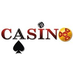 casino sign white vector image