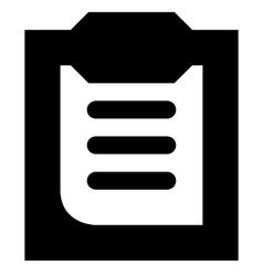 Clipboard icon vector image