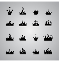 collection of many different crowns vector image vector image