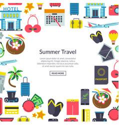 flat travel elements background vector image