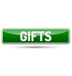 gifts - abstract beautiful button with text vector image vector image