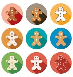 gingerbread men vector image