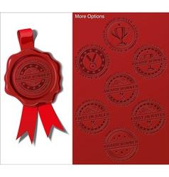 08 Wax Shield Award Winner vector image vector image