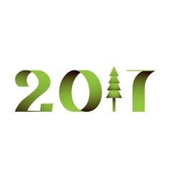 2017 text vector image