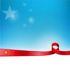 china flag background vector image
