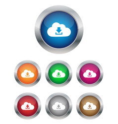 Download from cloud buttons vector image vector image