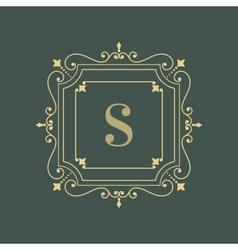 Elegant floral monogram logo design template vector