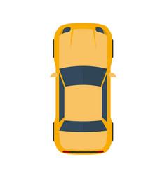 modern flat yellow car vector image